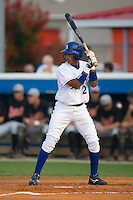 Angel Franco (2) of the Burlington Royals at bat at Burlington Athletic Park in Burlington, NC, Saturday, July 26, 2008. (Photo by Brian Westerholt / Four Seam Images)