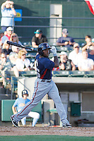 Potomac Nationals outfielder Narciso Mesa (25) at bat during a game against the Myrtle Beach Pelicans at Ticketreturn.com Field at Pelicans Ballpark on May 24, 2015 in Myrtle Beach, South Carolina.  Potomac defeated Myrtle Beach 1-0. (Robert Gurganus/Four Seam Images)