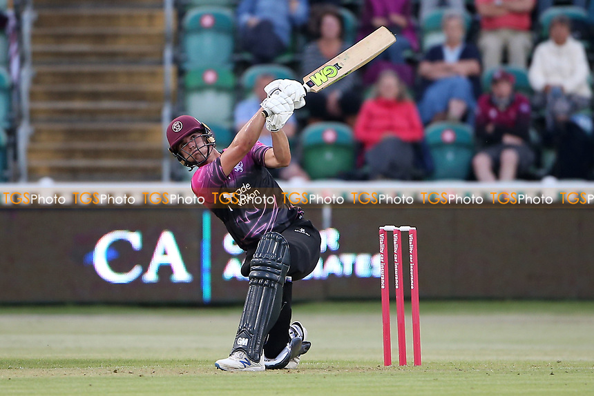 Ben Green hits 6 runs for Somerset during Somerset vs Essex Eagles, Vitality Blast T20 Cricket at The Cooper Associates County Ground on 9th June 2021