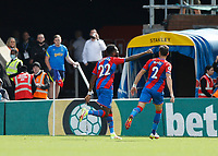 11th September 2021; Selhurst Park, Crystal Palace, London, England;  Premier League football, Crystal Palace versus Tottenham Hotspur: Odsonne Edouard of Crystal Palace celebrates after scoring his sides 2nd goal in the 84th minute to make it 2-0