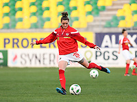 20190227 - LARNACA , CYPRUS : Austrian Verena Aschauer pictured during warming up of a women's soccer game between the Super Falcons of Nigeria and Austria , on Wednesday 27 February 2019 at the AEK Arena in Larnaca , Cyprus . This is the first game in group C for both teams during the Cyprus Womens Cup 2019 , a prestigious women soccer tournament as a preparation on the Uefa Women's Euro 2021 qualification duels. PHOTO SPORTPIX.BE | DAVID CATRY