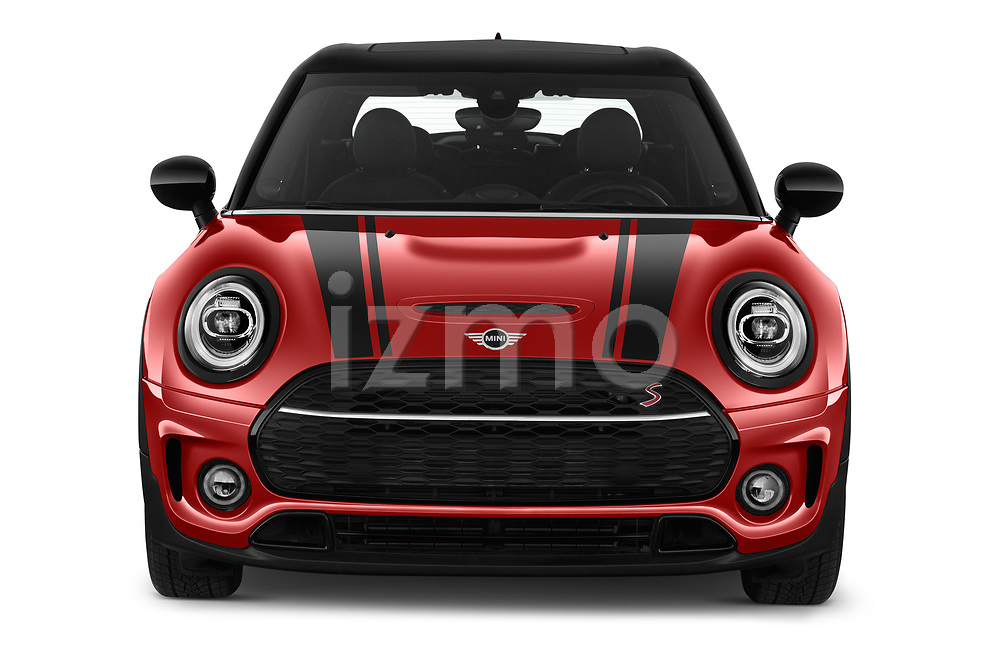 Car photography straight front view of a 2020 Mini Clubman S 5 Door Wagon