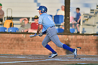 Burlington Royals center fielder Vance Vizcaino (6) swings at a pitch during Game Two of the Appalachian League Championship series against the Johnson City Cardinals at TVA Credit Union Ballpark on September 7, 2016 in Johnson City, Tennessee. The Cardinals defeated the Royals 11-6 to win the series 2-0.. (Tony Farlow/Four Seam Images)