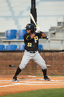 Henrry Rosario (52) of the Bristol Pirates at bat against the Johnson City Cardinals at Howard Johnson Field at Cardinal Park on July 6, 2015 in Johnson City, Tennessee.  The Pirates defeated the Cardinals 2-0 in game one of a double-header. (Brian Westerholt/Four Seam Images)