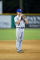 Kingsport Mets third baseman Reed Gamache (13) on defense against the Burlington Royals at Burlington Athletic Stadium on July 18, 2016 in Burlington, North Carolina.  The Royals defeated the Mets 8-2.  (Brian Westerholt/Four Seam Images)
