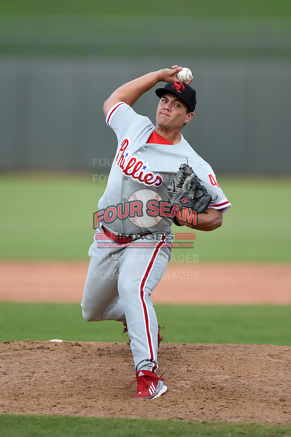 Scottsdale Scorpions pitcher Colton Murray (44) during an Arizona Fall League game against the Peoria Javelinas on October 18, 2014 at Surprise Stadium in Surprise, Arizona.  Peoria defeated Scottsdale 4-3.  (Mike Janes/Four Seam Images)