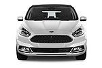 Car photography straight front view of a 2018 Ford S-Max Vignale Base 5 Door Mini Van