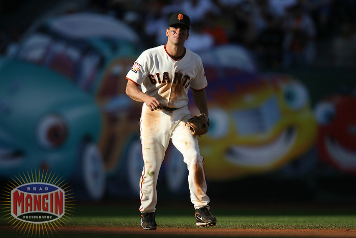 SAN FRANCISCO - May 6:  Omar Vizquel of the San Francisco Giants plays defense during the game against the Philadelphia Phillies at AT&T Park in San Francisco, California on May 6, 2007. (Photo by Brad Mangin)