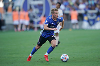 SAN JOSE, CA - AUGUST 8: Jackson Yueill #14 of the San Jose Earthquakes during a game between Los Angeles FC and San Jose Earthquakes at PayPal Park on August 8, 2021 in San Jose, California.