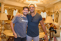 LAS VEGAS, NV - July 15, 2021: Dylan Barbour and Clay harbor pictured at Westgate Las Vegas Resort & Casino in Las Vegas, NV on July 15, 2021. <br /> CAP/MPI/GDP<br /> ©GDP/MPI/Capital Pictures