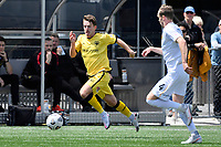 Alex Clayton of the Wellington Phoenix runs with the ball during the SPS Handa Men's Premiership - Wellington Phoenix v Team Wellington at Fraser Park, Wellington on Saturday 14 November 2020.<br /> Copyright photo: Masanori Udagawa /  www.photosport.nz