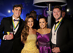 """From left: Brian Baker, Melissa Crowder, Katelyn Ellis and Austin Parker at the San Luis Salute """"Hollywood Dinner Club"""" in Galveston Friday Feb. 09,2018. (Dave Rossman Photo)"""