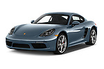 2017 Porsche 718 Cayman S 3 Door Coupe angular front stock photos of front three quarter view