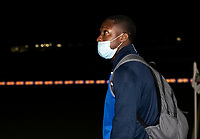 Bolton Wanderers' Liam Gordon arriving at the stadium <br /> <br /> Photographer Andrew Kearns/CameraSport<br /> <br /> The EFL Sky Bet League Two - Bolton Wanderers v Mansfield Town - Tuesday 3rd November 2020 - University of Bolton Stadium - Bolton<br /> <br /> World Copyright © 2020 CameraSport. All rights reserved. 43 Linden Ave. Countesthorpe. Leicester. England. LE8 5PG - Tel: +44 (0) 116 277 4147 - admin@camerasport.com - www.camerasport.com