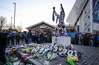 Tributes to Toby Nye, left outside Elland Road<br /> <br /> Photographer Alex Dodd/CameraSport<br /> <br /> The EFL Sky Bet Championship - Leeds United v Norwich City - Saturday 2nd February 2019 - Elland Road - Leeds<br /> <br /> World Copyright © 2019 CameraSport. All rights reserved. 43 Linden Ave. Countesthorpe. Leicester. England. LE8 5PG - Tel: +44 (0) 116 277 4147 - admin@camerasport.com - www.camerasport.com