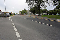 Pictured: The empty St Helen's Road in Swansea, which is usually busy with traffic during rush hour Wednesday 06 July 2016<br />Re: Empty street in central Swansea, during rush hour, before the UEFA Euro 2016 Portugal v Wales semi-final