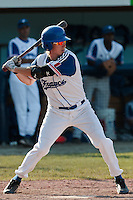 31 July 2010: Luc Piquet of Team France is seen at bat during the Greece 14-5 win over France, at the 2010 European Championship, in Heidenheim, Germany.