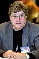 Normand Lester<br />  au Salon du Livre (annee inconnue)<br /> <br /> <br />  - PHOTO D'ARCHIVE :  Agence Quebec Presse