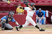 First baseman LaMonte Wade (6) of the Maryland Terrapins in an NCAA Division I Baseball Regional Tournament game against the Old Dominion Monarchs on Friday, May 30, 2014, at Carolina Stadium in Columbia, South Carolina. Wade was named to the tournament's All-Regional Team. Maryland won, 4-3. (Tom Priddy/Four Seam Images)