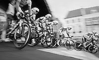 Team Topsport Vlaanderen-Baloise speeding off the start podium<br /> <br /> 12th Eneco Tour 2016 (UCI World Tour)<br /> stage 5 (TTT) Sittard-Sittard (20.9km) / The Netherlands