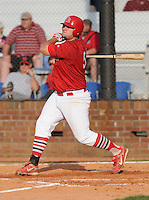 August 1, 2009: Infielder Matthew Adams (54) of the Johnson City Cardinals, rookie Appalachian League affiliate of the St. Louis Cardinals, in a game at Howard Johnson Field in Johnson City, Tenn. Photo by: Tom Priddy/Four Seam Images