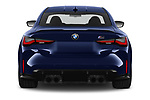 Straight rear view of 2021 BMW M4-Coupe Competition 2 Door Coupe Rear View  stock images