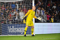 ORLANDO, FL - NOVEMBER 15: Brad Guzan #1 of the United States looks for an open man downfield during a game between Canada and USMNT at Exploria Stadium on November 15, 2019 in Orlando, Florida.