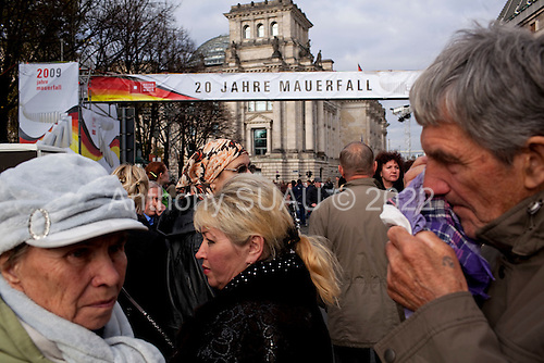 Berlin, Germany<br /> November 6, 2009<br /> <br /> The Brandenburger Tor is prepared for the 20th anniversary of the fall of the Berlin Wall.<br /> <br /> A group of Russian tourists.