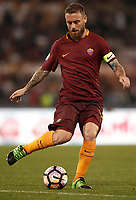 Calcio, Serie A: Roma, stadio Olimpico, 14 maggio 2017.<br /> AS Roma's Daniele De Rossi in action during the Italian Serie A football match between AS Roma and Juventus at Rome's Olympic stadium, May 14, 2017.<br /> UPDATE IMAGES PRESS/Isabella Bonotto