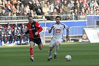Zweikampf zwischen Marc Pfertzel (VfL Bochum) und Michael Fink (Eintracht)<br /> Eintracht Frankfurt vs. VfL Bochum, Commerzbank Arena<br /> *** Local Caption *** Foto ist honorarpflichtig! zzgl. gesetzl. MwSt. Auf Anfrage in hoeherer Qualitaet/Aufloesung. Belegexemplar an: Marc Schueler, Am Ziegelfalltor 4, 64625 Bensheim, Tel. +49 (0) 6251 86 96 134, www.gameday-mediaservices.de. Email: marc.schueler@gameday-mediaservices.de, Bankverbindung: Volksbank Bergstrasse, Kto.: 151297, BLZ: 50960101