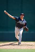 Atlanta Braves pitcher Brandon White (38) delivers a pitch during an Instructional League game against the Baltimore Orioles on September 25, 2017 at Ed Smith Stadium in Sarasota, Florida.  (Mike Janes/Four Seam Images)