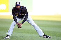 May 3, 2010:  Starting pitcher Aroldis Chapman (51) of the Louisville Bats stretches prior to a game vs. the Buffalo Bisons at Coca-Cola Field in Buffalo, NY.   Louisville defeated Buffalo by the score of 20-7, Chapman got the win on the mound.  Photo By Mike Janes/Four Seam Images