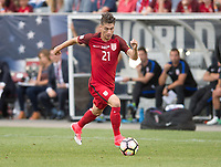 Commerce City, CO - Thursday June 08, 2017: Jorge Villafana during a 2018 FIFA World Cup Qualifying Final Round match between the men's national teams of the United States (USA) and Trinidad and Tobago (TRI) at Dick's Sporting Goods Park.