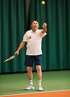 August 22, 2014, Netherlands, Amstelveen, De Kegel, National Veterans Championships, Nico van Cauter (NED)<br /> Photo: Tennisimages/Henk Koster