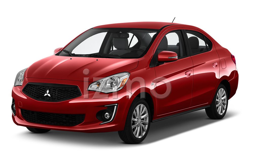 2020 Mitsubishi Mirage-G4 SE 4 Door Sedan Angular Front automotive stock photos of front three quarter view