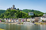 Deutschland, Rheinland-Pfalz, Moseltal, Cochem an der Mosel mit Reichsburg | Germany, Rhineland-Palatinate, Moselle Valley, Cochem at river Moselle with castle (Reichsburg)