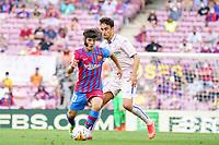 29th August 2021; Nou Camp, Barcelona, Spain; La Liga football league, FC Barcelona versus Getafe; Xavi breaks away from his marker