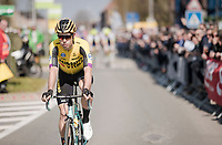 Wout Van Aert (BEL/Jumbo-Visma) at the start <br /> <br /> 62nd E3 BinckBank Classic (Harelbeke) 2019 <br /> One day race (1.UWT) from Harelbeke to Harelbeke (204km)<br /> <br /> ©kramon