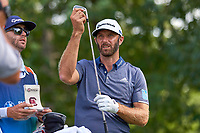 OLYMPIA FIELDS, IL - AUGUST 29: Dustin Johnson of the United States and his caddie/brother, Austin, at the 16th tee during the third round of the BMW Championship at Olympia Fields Country Club (North)