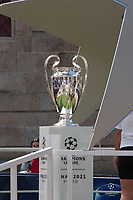 29th May 2021; Porto, Portugal;  UEFA Champions League football final, Chelsea FC versus manchester City;  Champions League Cup displayed to the public in the city of Porto, Portugal, where the final will be played