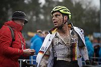 Sasha Weber (DEU) post-race<br /> <br /> Men's Elite Race<br /> <br /> UCI 2016 cyclocross World Championships,<br /> Zolder, Belgium