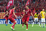 Shanghai FC Midfielder Akhmedov Odil (R) celebrating his score with Oscar Emboaba Junior (L) during the AFC Champions League 2017 Round of 16 match between Shanghai SIPG FC (CHN) vs Jiangsu FC (CHN) at the Shanghai Stadium on 24 May 2017 in Shanghai, China. Photo by Marcio Rodrigo Machado / Power Sport Images
