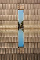 Oklahoma City, Oklahoma, USA.  National Terrorism Memorial Gate, Reflection.