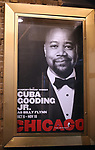 """Theatre Marquee for Cuba Gooding Jr. returns to Broadway in """"Chicago"""" on October 9, 2018 at the Ambassador Theatre in New York City."""