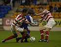 06/08/2002                   Copyright Pic : James Stewart.File Name : stewart-st john v hamilton 06.PAUL HARTLEY IS BUNDLED OFF THE BALL BY IAN DOBBINS AND JOHNNY WALKER.....Payments to :-.James Stewart Photo Agency, 19 Carronlea Drive, Falkirk. FK2 8DN      Vat Reg No. 607 6932 25.Office     : +44 (0)1324 570906     .Mobile  : +44 (0)7721 416997.Fax         :  +44 (0)1324 570906.E-mail  :  jim@jspa.co.uk.If you require further information then contact Jim Stewart on any of the numbers above.........