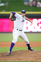 Winston-Salem Dash starting pitcher Sean Hagan (27) in action against the Myrtle Beach Pelicans at BB&T Ballpark on April 18, 2015 in Winston-Salem, North Carolina.  The Pelicans defeated the Dash 8-4 in game two of a double-header.  (Brian Westerholt/Four Seam Images)