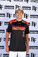 Deven Kirtley (2) of Piner High School in Santa Rosa, California during the Baseball Factory All-America Pre-Season Tournament, powered by Under Armour, on January 12, 2018 at Sloan Park Complex in Mesa, Arizona.  (Mike Janes/Four Seam Images)
