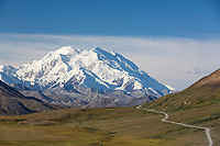 Denali, as viewed from Stony dome in Denali National Park, Alaska.
