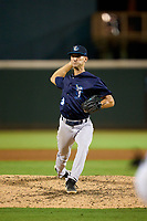 Tampa Tarpons pitcher Carson Coleman (34) during Game Two of the Low-A Southeast Championship Series against the Bradenton Marauders on September 22, 2021 at LECOM Park in Bradenton, Florida.  (Mike Janes/Four Seam Images)