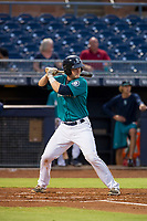 AZL Mariners catcher James Lovett (39) at bat against the AZL Royals on July 29, 2017 at Peoria Stadium in Peoria, Arizona. AZL Royals defeated the AZL Mariners 11-4. (Zachary Lucy/Four Seam Images)